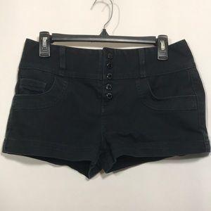 Guess Black Snap Fly Denim Shorts